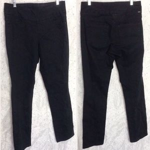 Jag Jeans Jeans - JAG JEANS Black Pull On Twill Pants Size 12